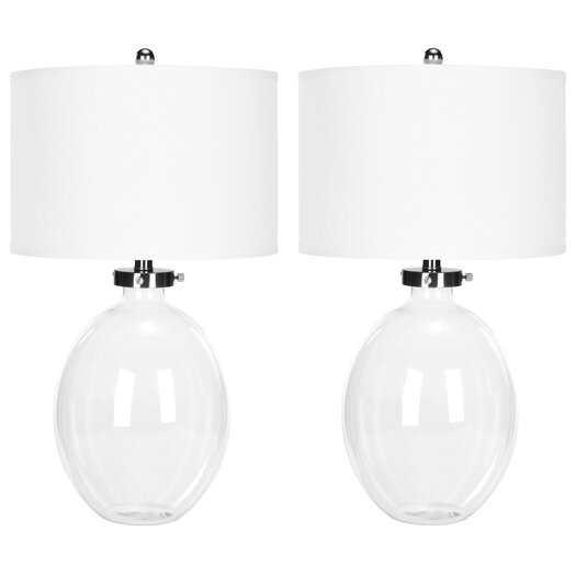 """Safavieh 26"""" H Table Lamp with Drum Shade"""