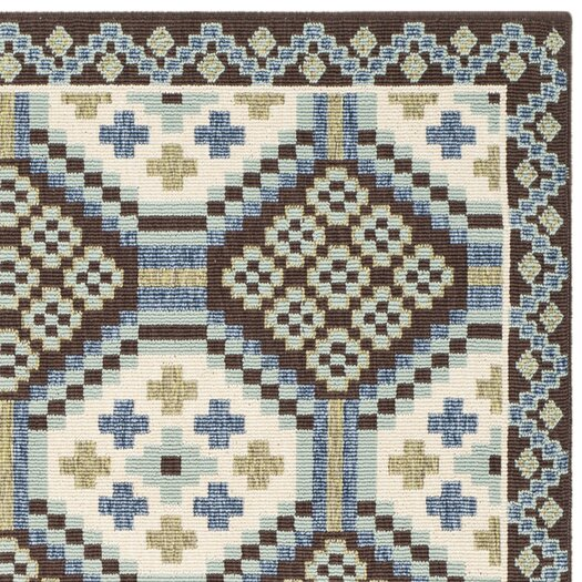 Safavieh Veranda Blue & Chocolate Area Rug