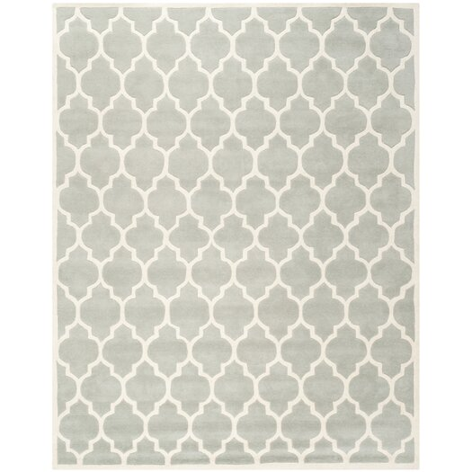 Safavieh Moroccan Blue And Black Area Rug: Safavieh Chatham Light Blue & Ivory Moroccan Area Rug