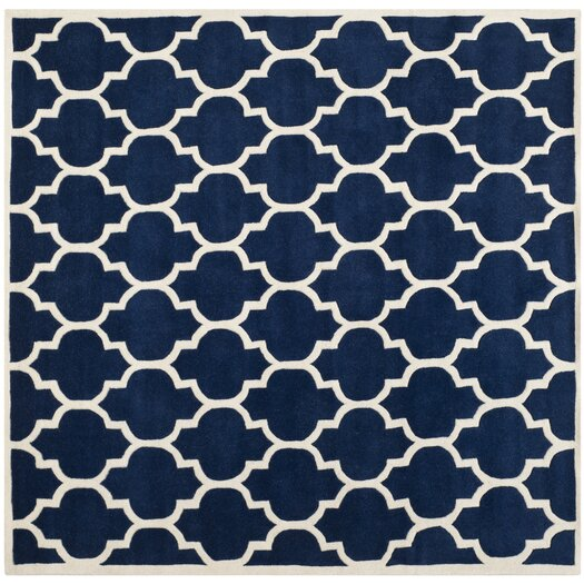 Safavieh Moroccan Blue And Black Area Rug: Safavieh Chatham Dark Blue & Ivory Moroccan Area Rug