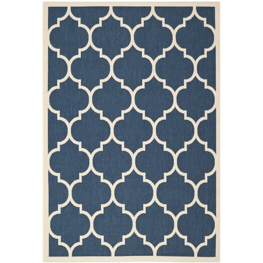 Safavieh Courtyard Fairmont Navy/Beige Outdoor Area Rug