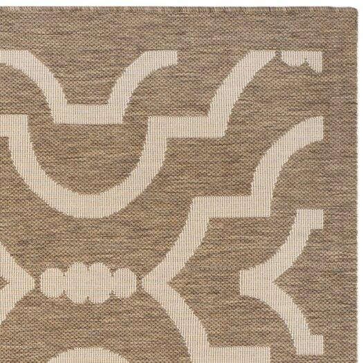 Safavieh Courtyard Brown / Bone Outdoor Rug