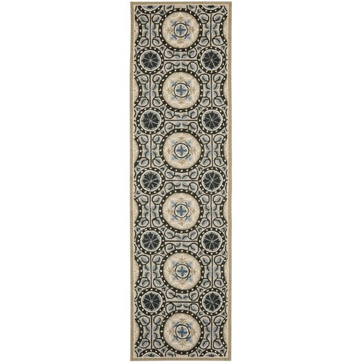 Safavieh Four Seasons Cement/Blue Outdoor Area Rug