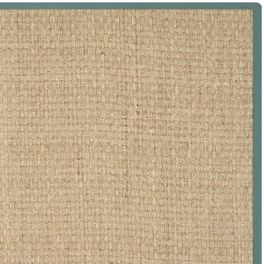 Safavieh Natural Fiber Natural / Light Blue Area Rug