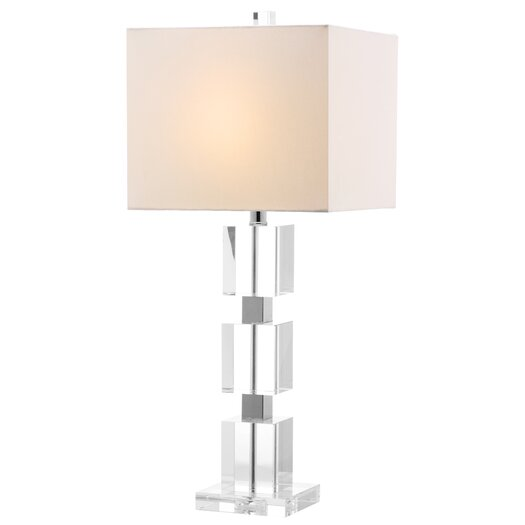 "Safavieh Ice Palace Cube 28"" H Table Lamp with Square Shade"
