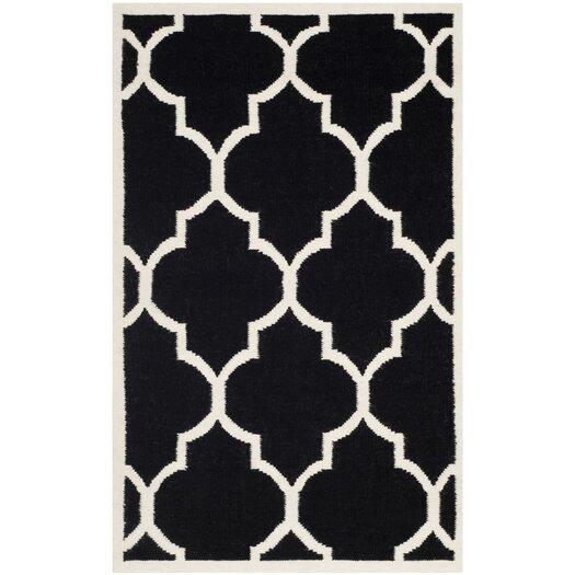 Safavieh Dhurries Black/Ivory Area Rug
