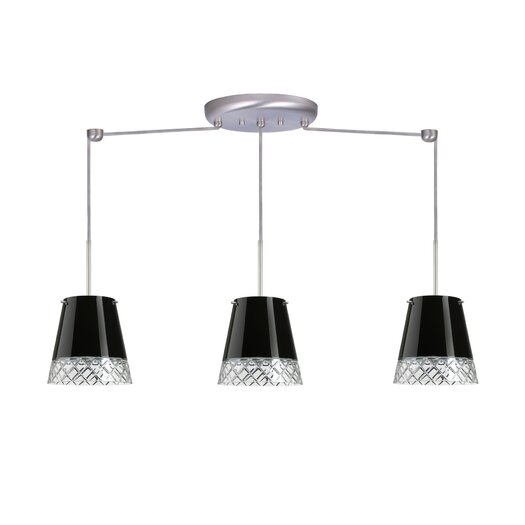 Besa Lighting Amelia 3 Light Linear Pendant