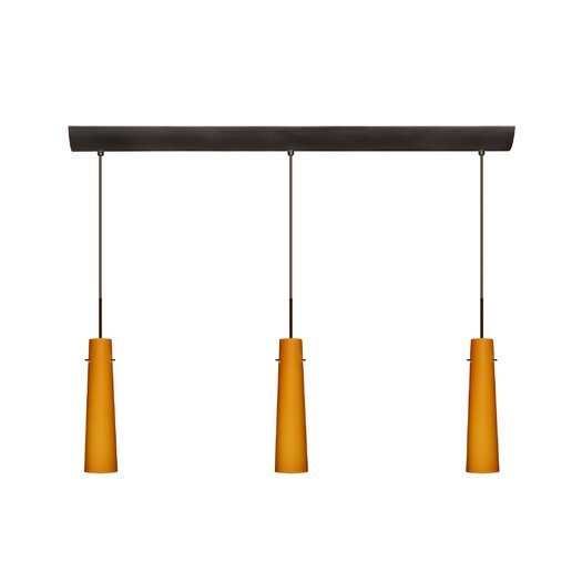 Besa Lighting Camino 3 Light Pendant with Bar Canopy