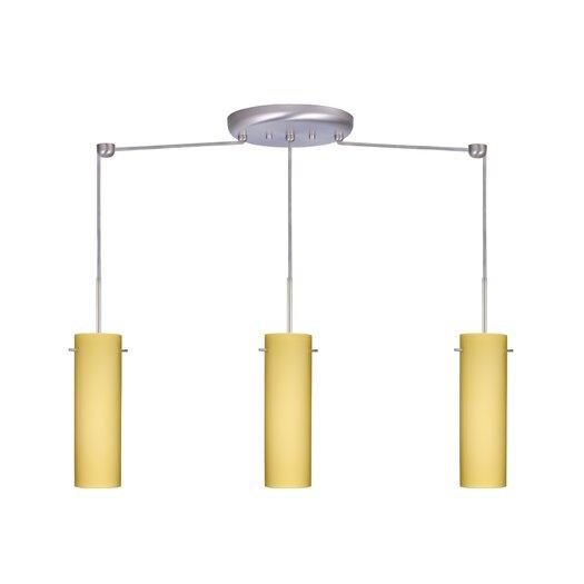 Besa Lighting Copa 3 Light Linear Pendant