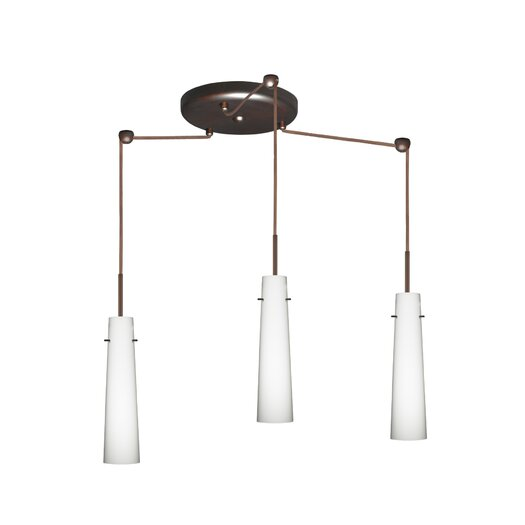 Besa Lighting Camino 3 Light Mini Pendant