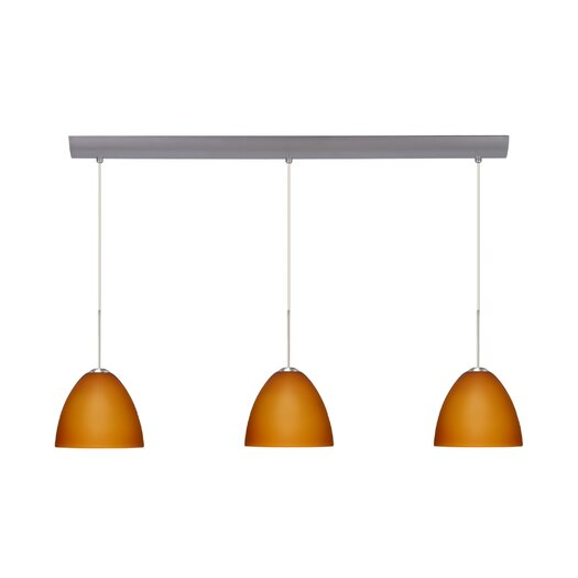 Besa Lighting Sasha II 3 Light Mini Pendant with Bar Canopy