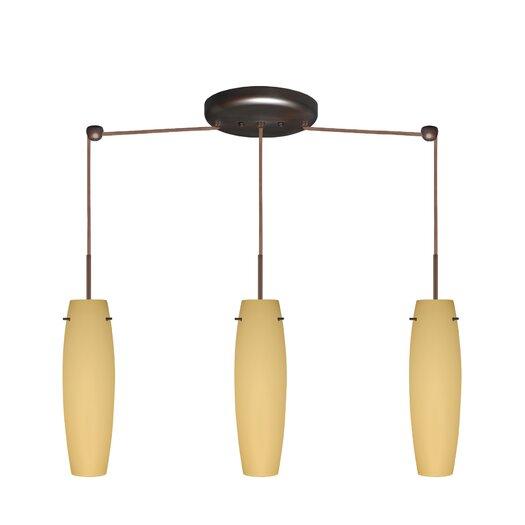 Besa Lighting Tutu 3 Light Mini Pendant