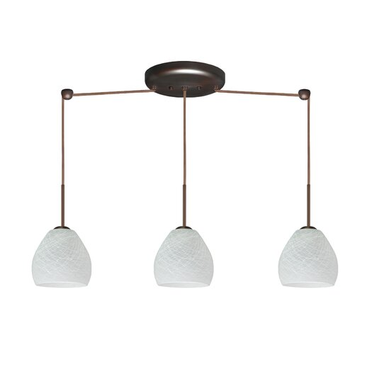 Besa Lighting Bolla 3 Light Linear Mini Pendant
