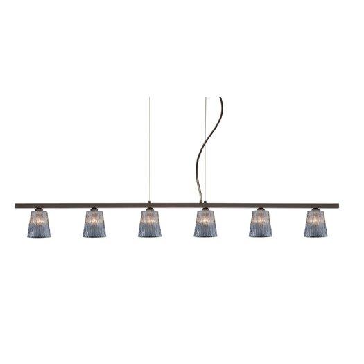 Besa Lighting Nico 6 Light Linear Pendant