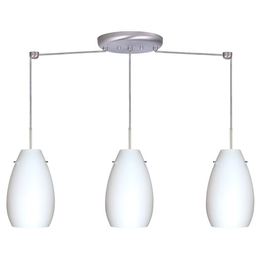 Besa Lighting Pera 3 Light Linear Pendant