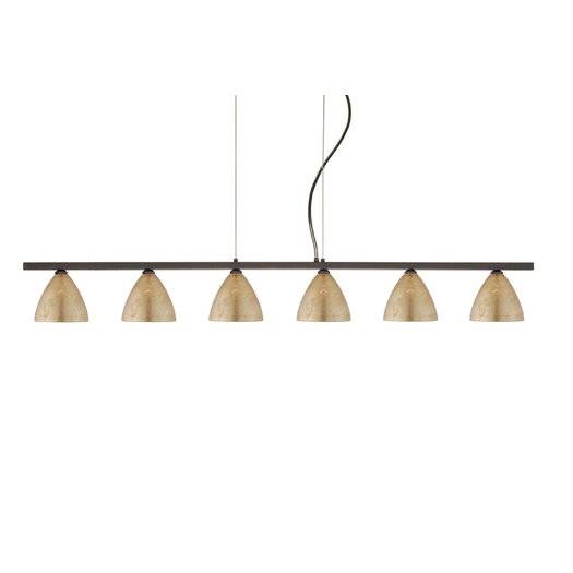 Besa Lighting Mia 6 Light Cable Hung Linear Pendant