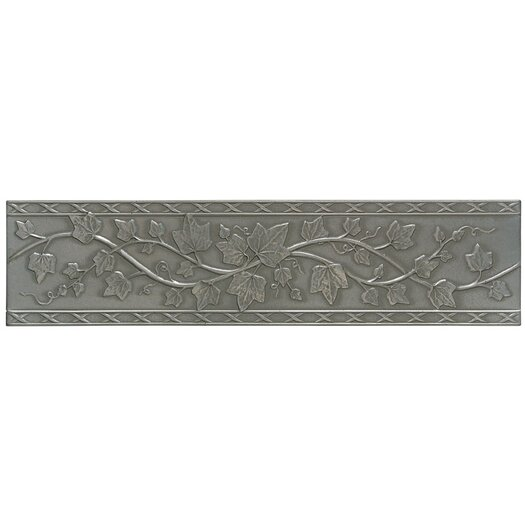 """Mohawk Flooring Artistic Accent Statements Metal 12"""" x 3"""" English Ivy Decorative Border in Vintage Pewter"""