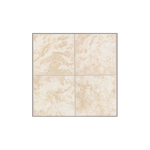 """Mohawk Flooring Pavin Stone 6"""" x 6"""" Ceramic Field Tile in White Linen"""