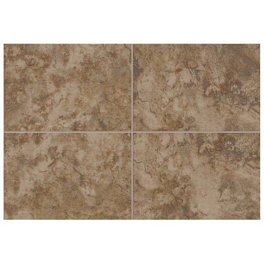"Mohawk Flooring Pavin Stone 10"" x 3"" Bullnose Tile Trim in Brown Suede"