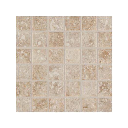 "Mohawk Flooring Steppington 2"" x 2"" Ceramic Mosaic Tile in Baronial Beige and Traditional Taupe Blend"