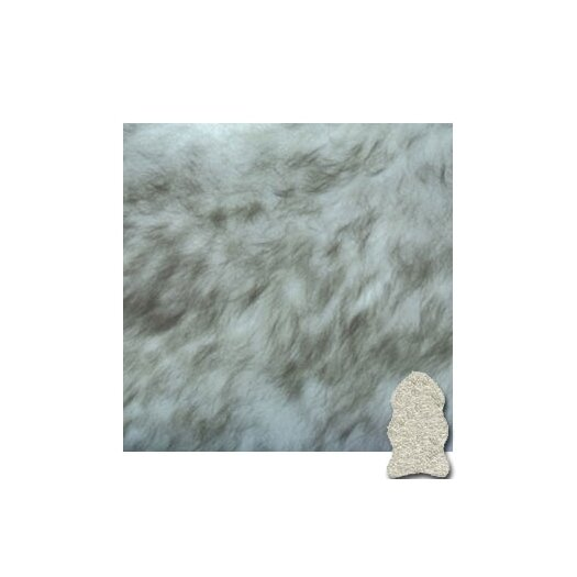 Bowron Sheepskin Rugs Gold Star Longwool Black/Gray Area Rug