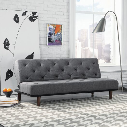 Sauder Premier Crash Convertible Sofa in Gray