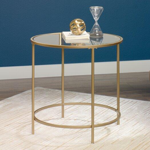 Hako Coffee Table: Sauder International Round Lux End Table