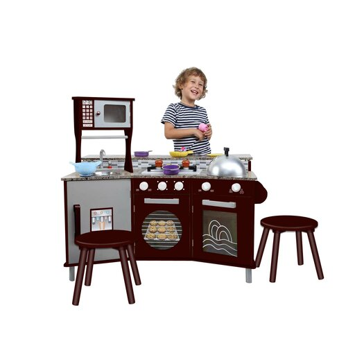 Teamson Kids My Little Chef Deluxe Faux-Granite Kitchen