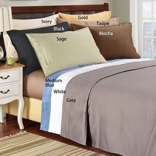 Simple Luxury 1500 Thread Count Premium Long-Staple Combed Cotton Solid Sheet Set