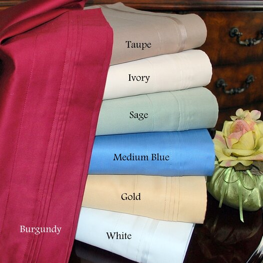Simple Luxury 1000 Thread Count Egyptian Cotton Solid Waterbed Sheet Set