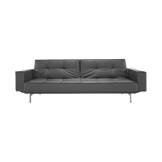 Split Back Convertible Sofa with Arms