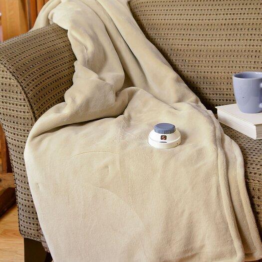 Serta Luxe Plush Micro Fleece Electric Throw