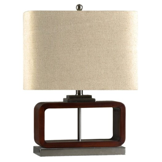 """StyleCraft Home Contemporary 21.25"""" H Table Lamp with Oval Shade"""