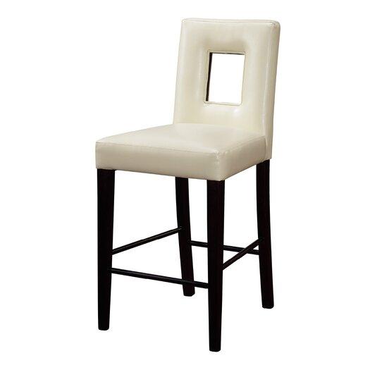 "Kitchen Bar Stools Usa: Global Furniture USA Jordan 27"" Bar Stool With Cushion"