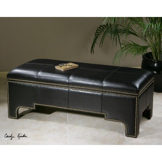 Uttermost Onika Faux Leather Storage Bench