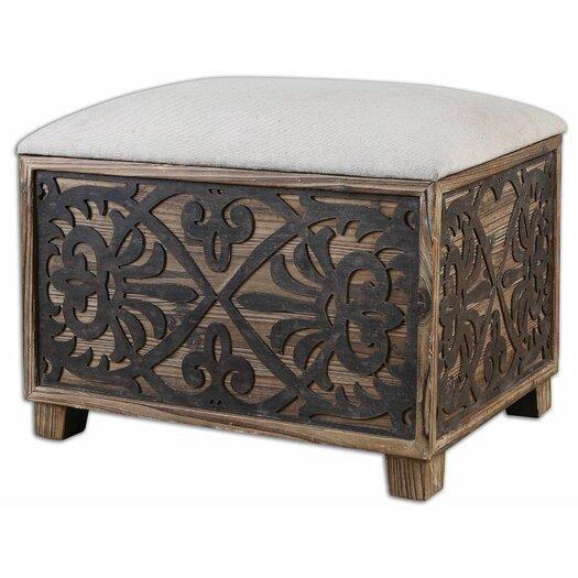 Uttermost abelardo wood bench allmodern for Abelard decoration