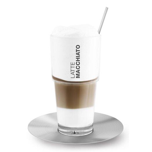 ZACK Ceto Latte Macchiato Glass, Spoon and Saucer