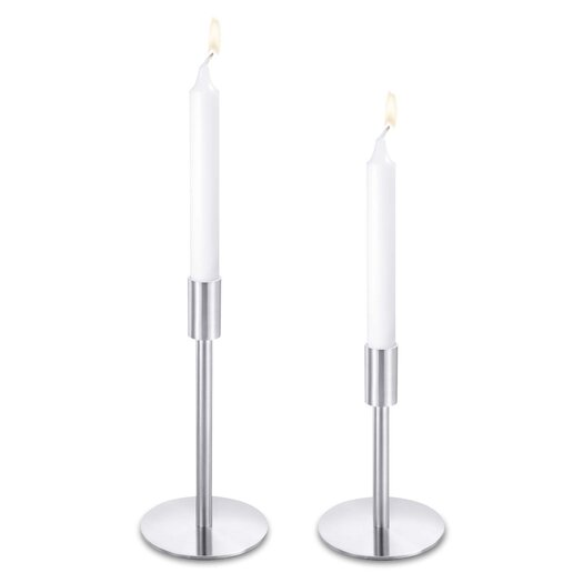 ZACK Dinnerware & Serving Pieces Stainless Steel Chaired Candlestick