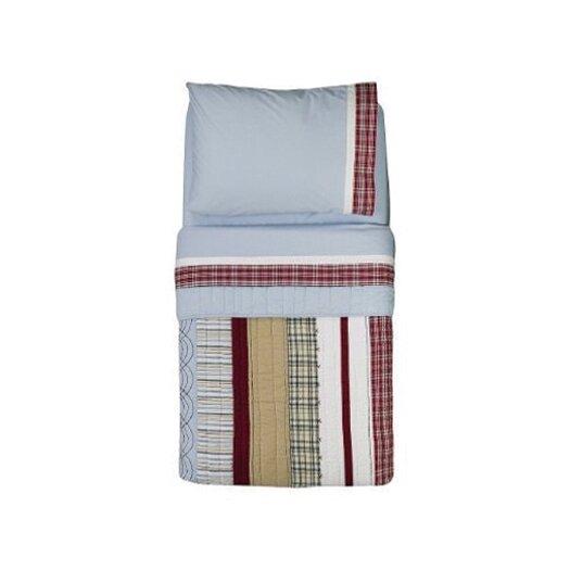 Bacati Boys Stripes and Plaids 4 Piece Toddler Bedding Set