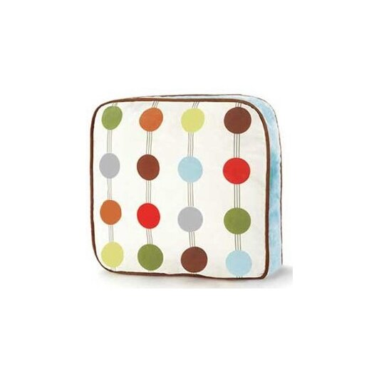Bacati Mod Dots and Stripes Decorative Cotton Throw Pillow