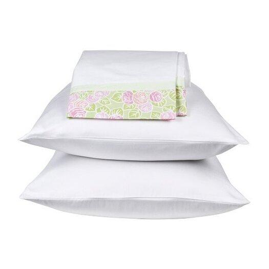 Bacati Flower Basket Standard Pillowcase