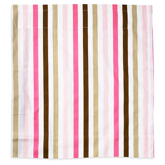 Bacati Mod Stripes Cotton Rod Pocket Single Curtain Panel
