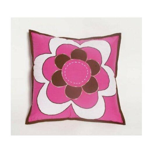 Bacati Damask Decorative Cotton Throw Pillow