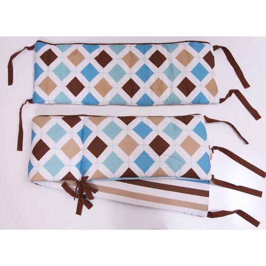 Bacati Mod Diamonds and Stripes Bumper Pad
