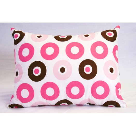 Bacati Mod Dots and Stripes Cotton Boudoir/Breakfast Pillow