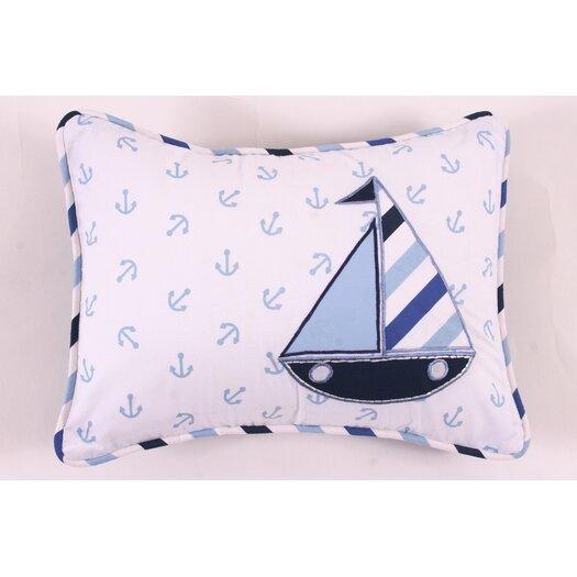Bacati Little Sailor Decorative Cotton Throw Pillow