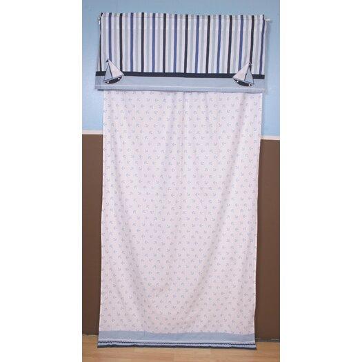 Bacati Little Sailor Cotton Curtain Panel