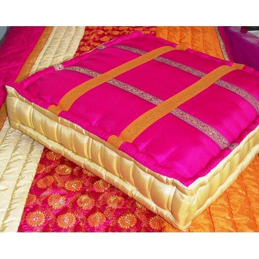 Bacati Tangerine Cotton Floor Pillow