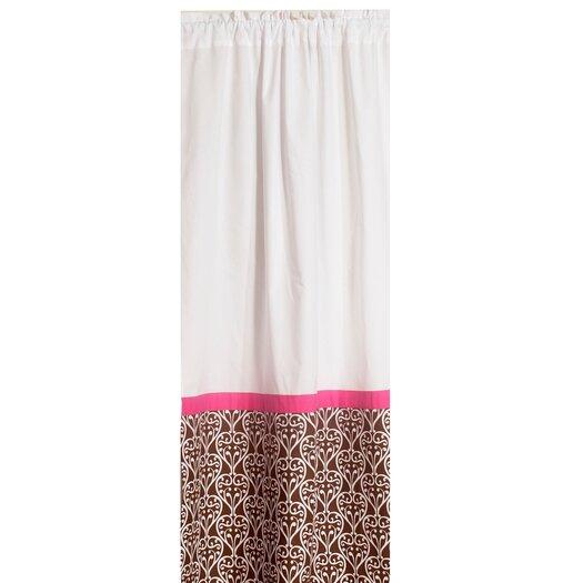 Bacati Damask Cotton Rod Pocket Single Curtain Panel