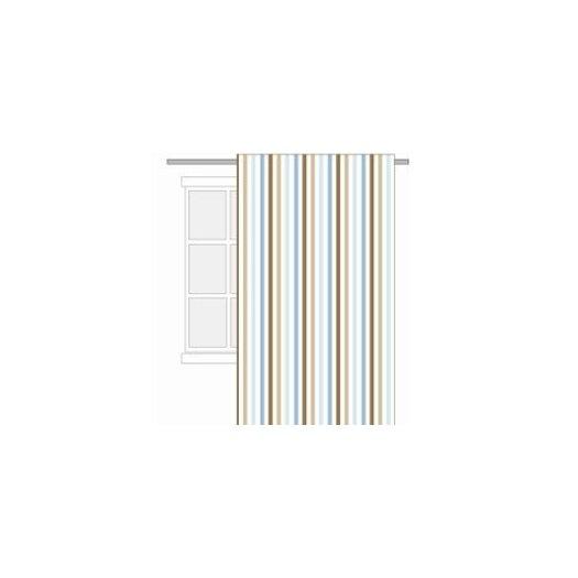 Bacati Mod Diamonds and Stripes Cotton Rod Pocket Single Curtain Panel